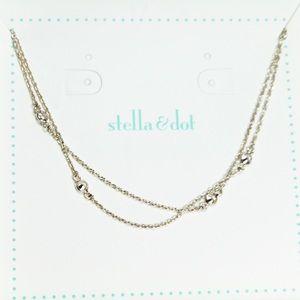 Stella & Dot Silver Tone Chain Necklace